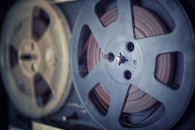 Retro audio tape recorder player, vintage effect. The Retro audio tape recorder player, vintage effect royalty free stock photos