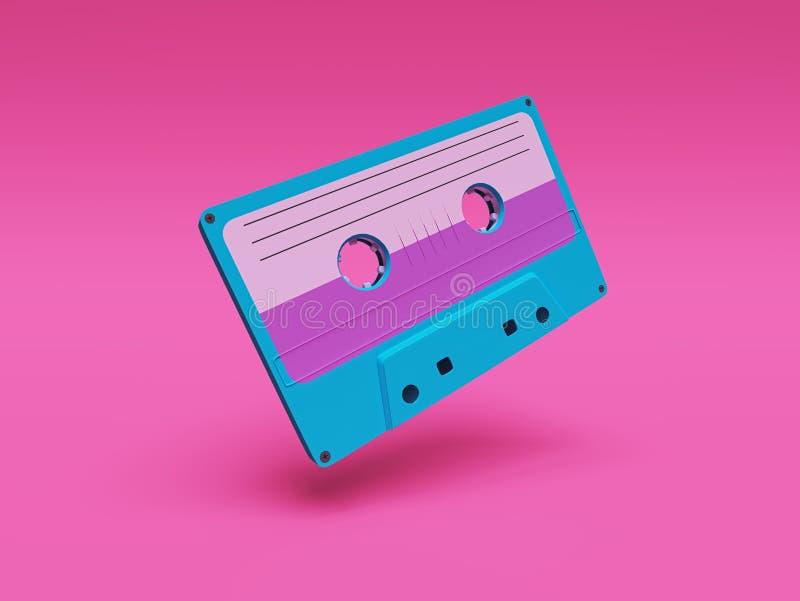 Retro audio vassoio rappresentazione 3d illustrazione di stock