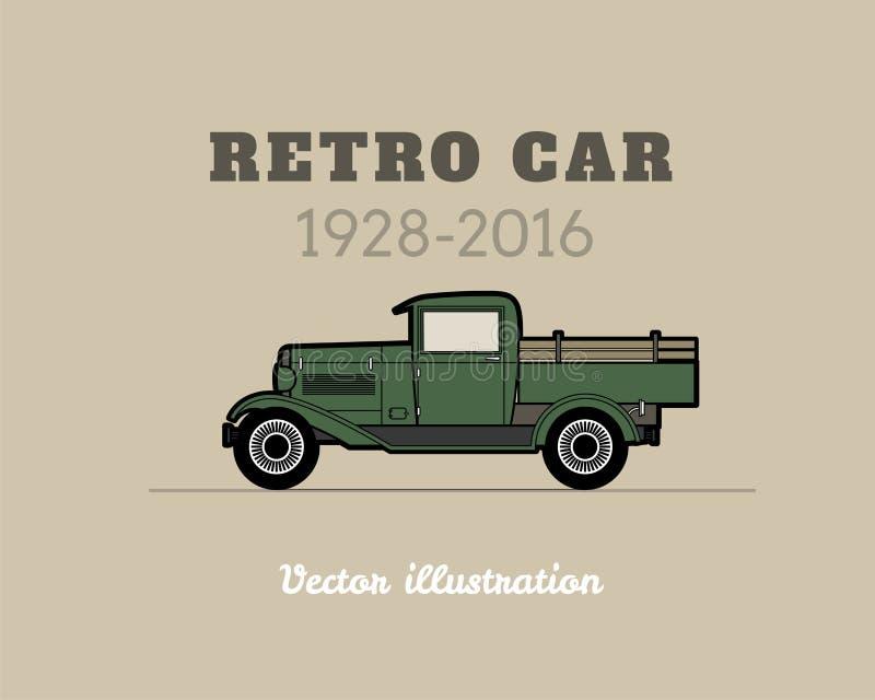 Retro- Aufnahme, LKW-Auto, Weinlesesammlung lizenzfreie abbildung