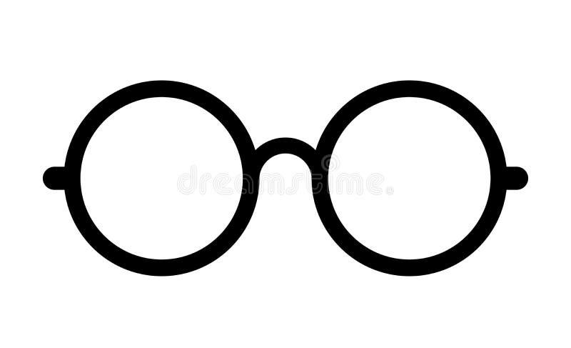 Retro- Augenglas-Vektorikone vektor abbildung