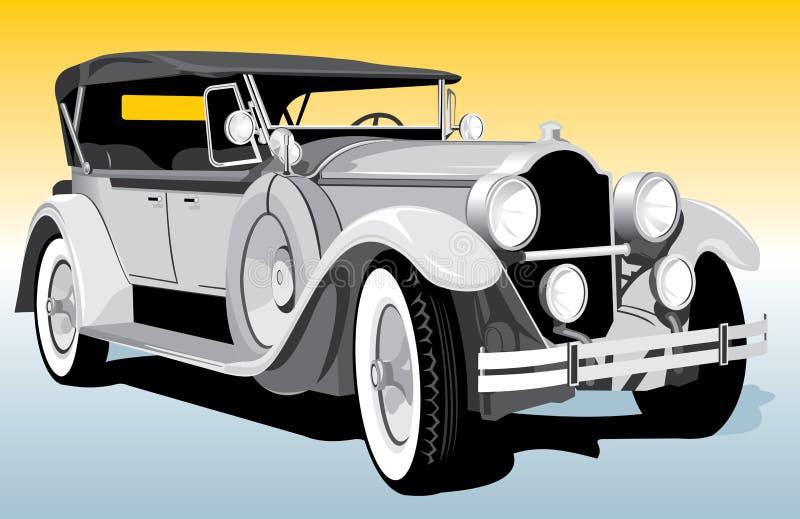 Retro auto stock illustratie