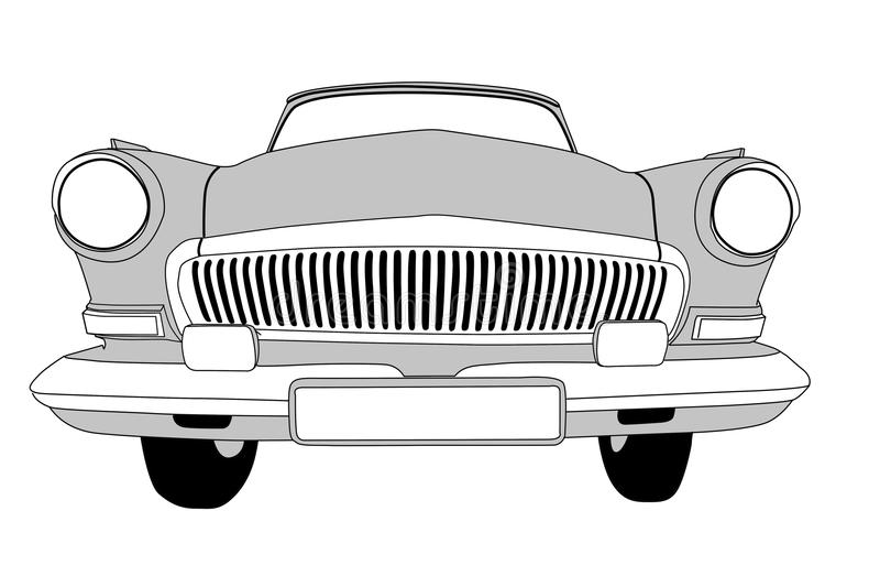 Retro auto vector illustratie