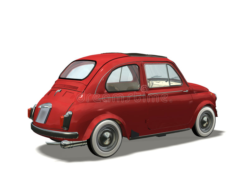 Retro auto royalty-vrije illustratie