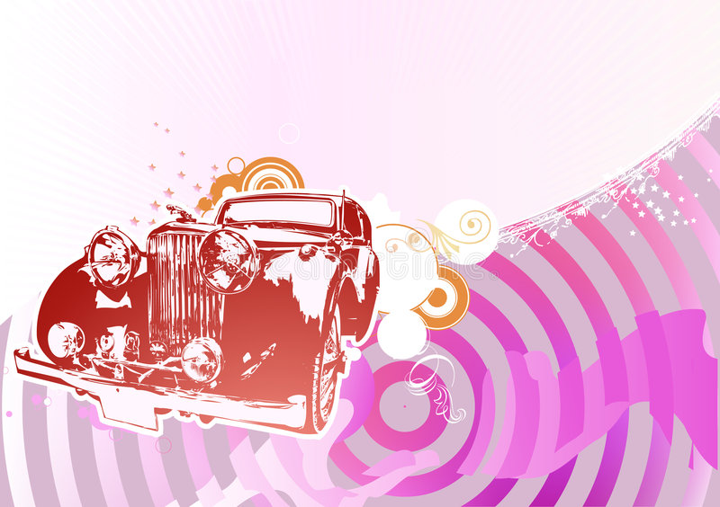 Retro auto vector illustratie