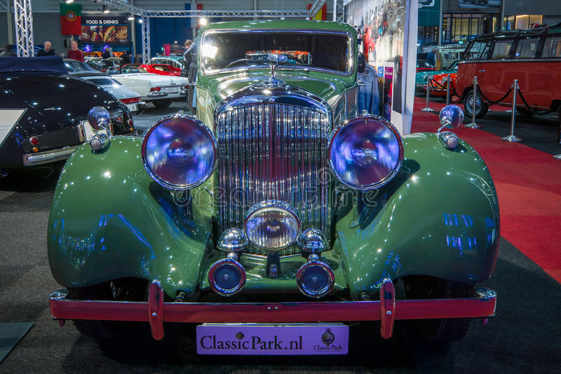 Retro auto Bentley 4 25 de Zaal van litersporten door Parkafdeling, 1938 stock foto
