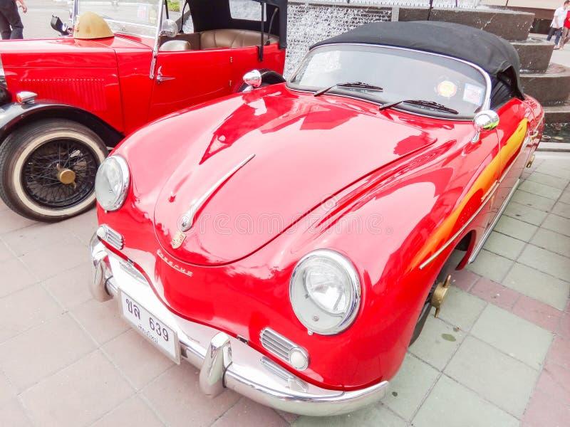 Retro auto in Chiang Mai, Thailand stock foto's