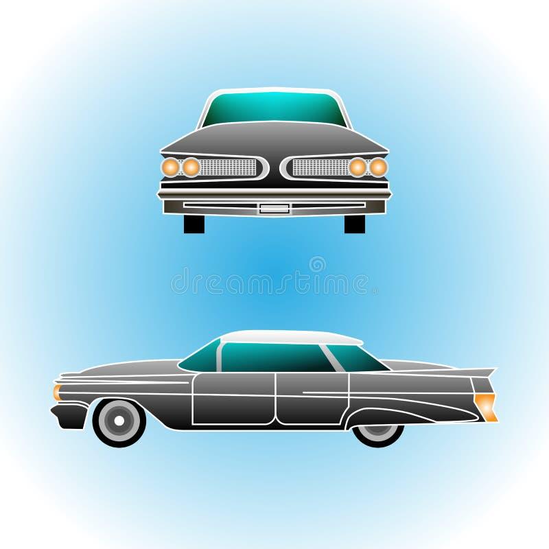 Retro auto Convertibele wijnoogst Realistische stijl stock illustratie
