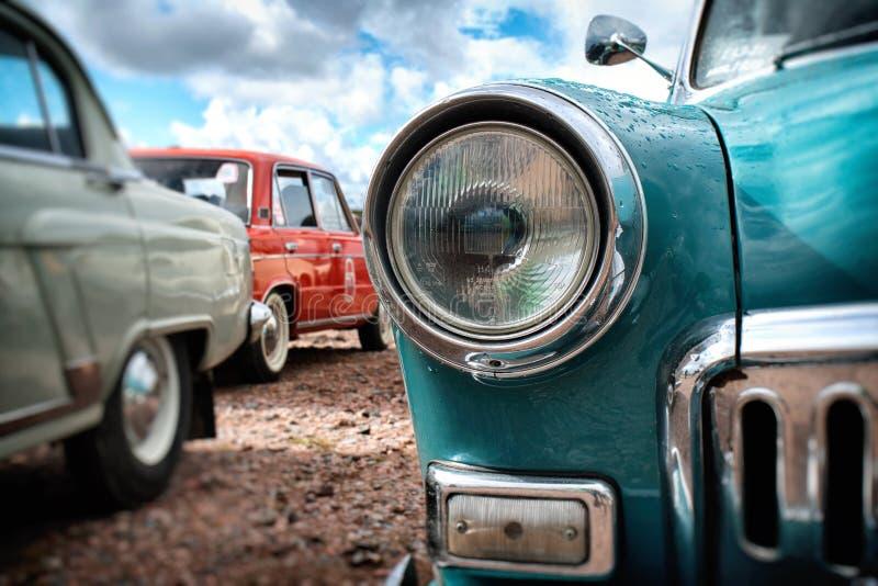 Retro auto gaz-21 Volga royalty-vrije stock foto