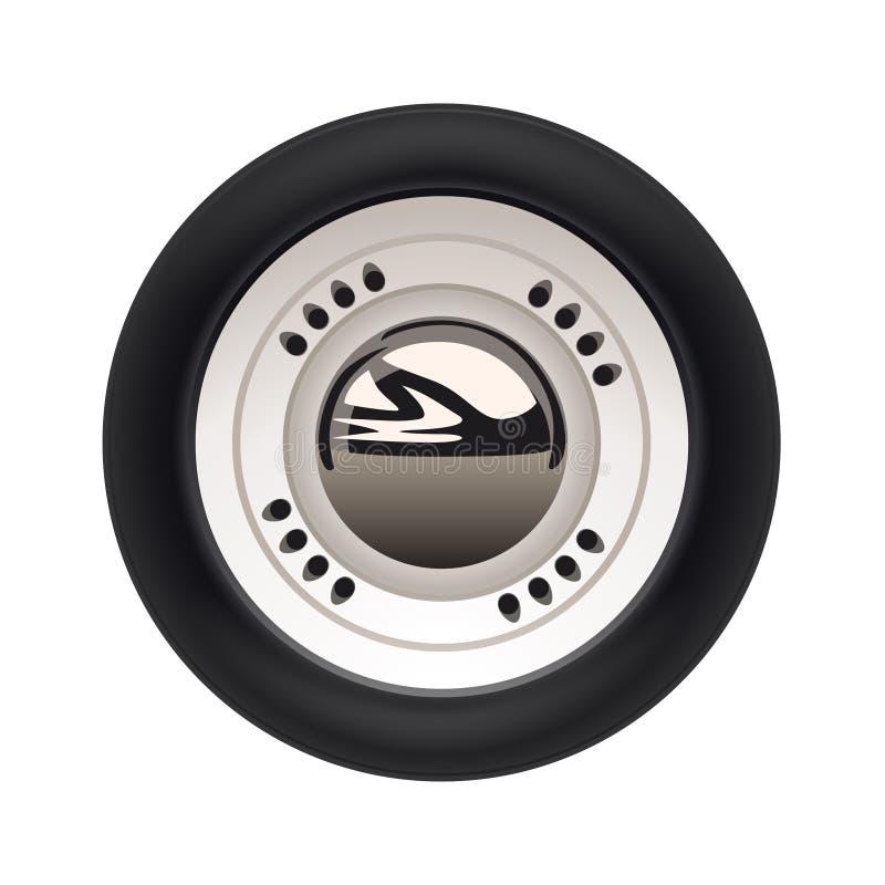 Retro- Auto getrennt stock abbildung
