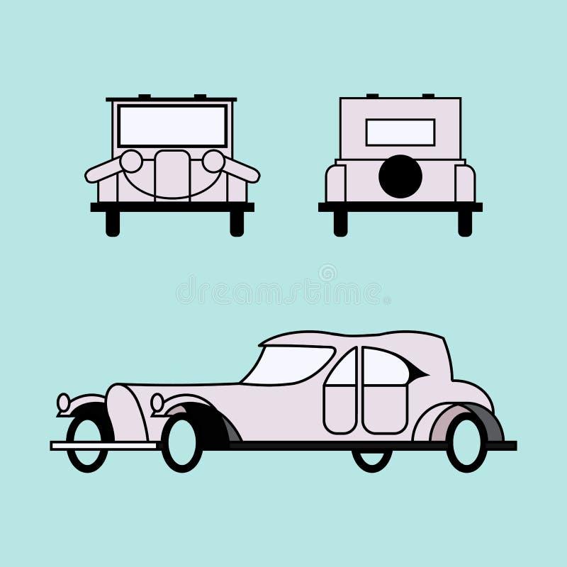 Retro auto 20 jaar van de 20ste eeuw vector illustratie