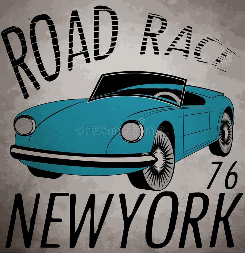 Retro auto Uitstekende auto Sport car royalty-vrije illustratie