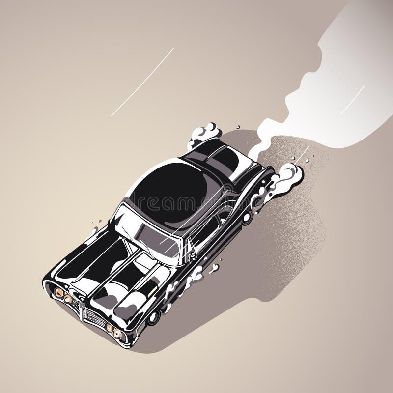 Retro Auto van de Spier royalty-vrije illustratie