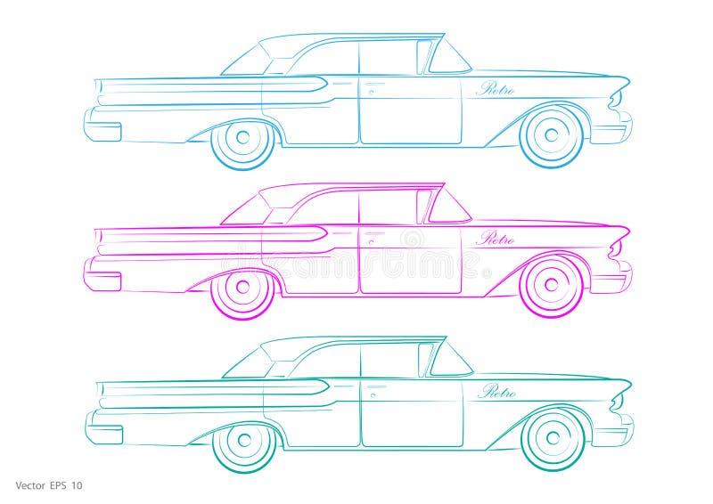 Retro Auto - vector vector illustratie