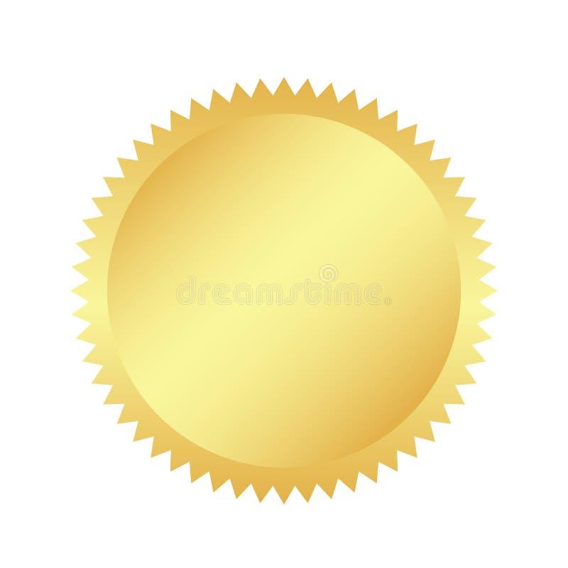 Retro autoadesivo dorato Elementi di progettazione dello sprazzo di sole Il raggio dorato e brillante dei fuochi d'artificio Megl illustrazione di stock