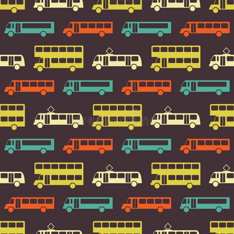Retro autobusowy bezszwowy wzór ilustracja wektor