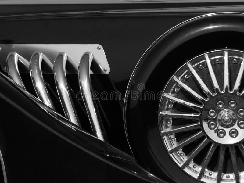 Retro autodetail stock afbeelding