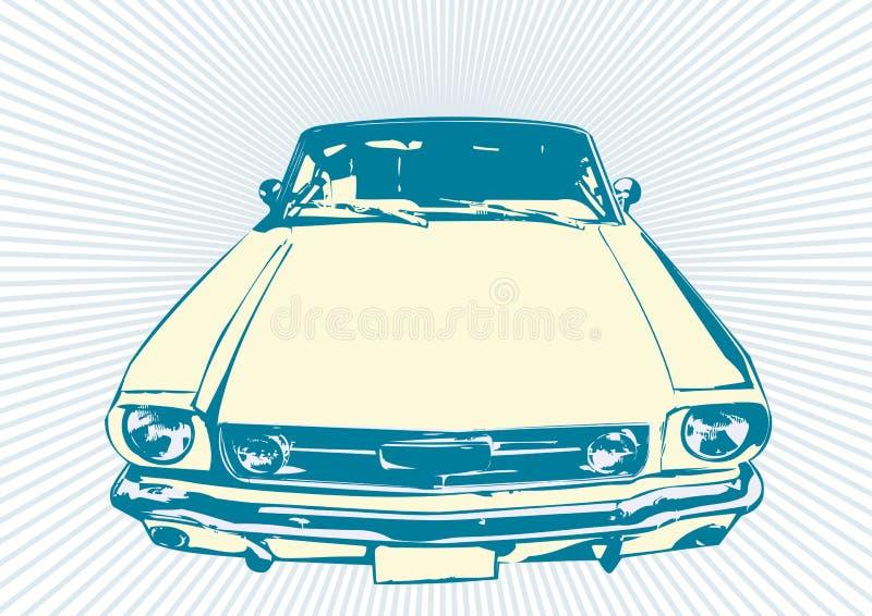Retro automobile illustrazione vettoriale