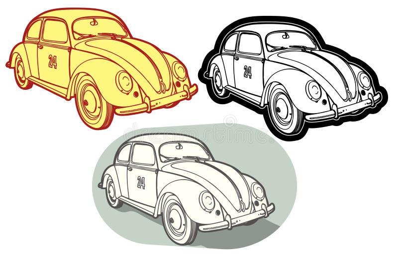 Download Retro automobile stock vector. Illustration of label, race - 6757545
