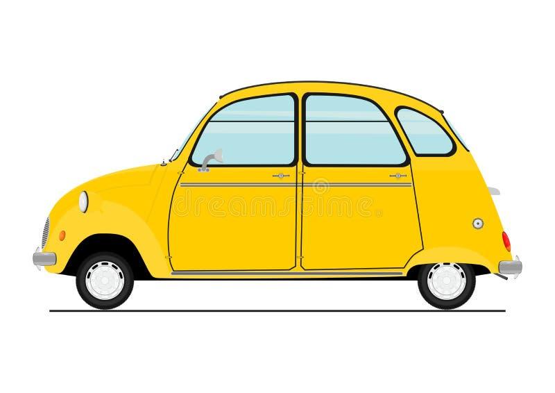 Retro automobile del fumetto royalty illustrazione gratis