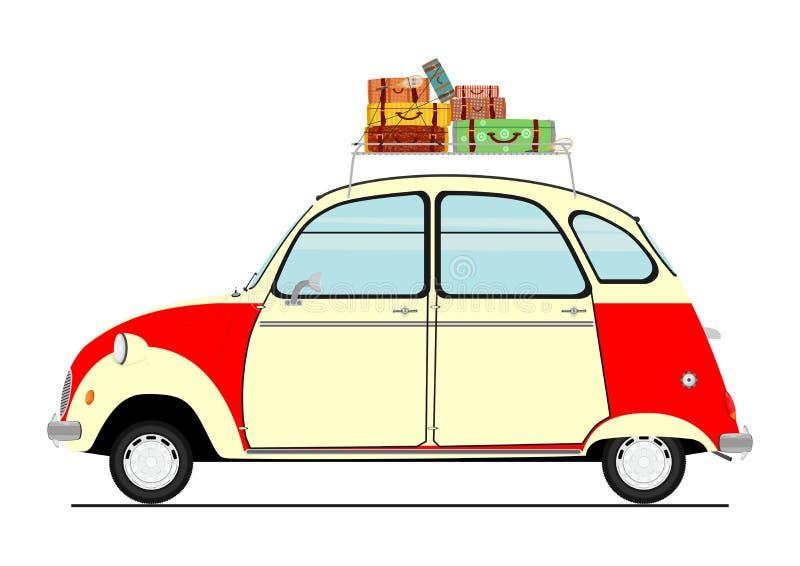 Retro automobile del fumetto illustrazione vettoriale