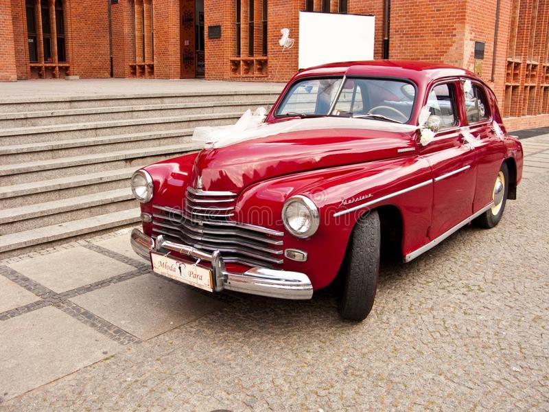 Retro automobile di Varsavia fotografia stock libera da diritti
