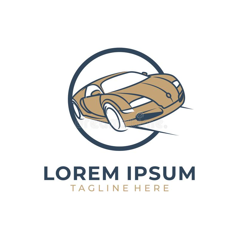 Retro automobile moderna di velocit? illustrazione vettoriale