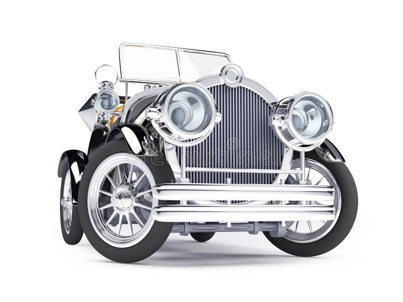 retro automobile nera 1910 royalty illustrazione gratis