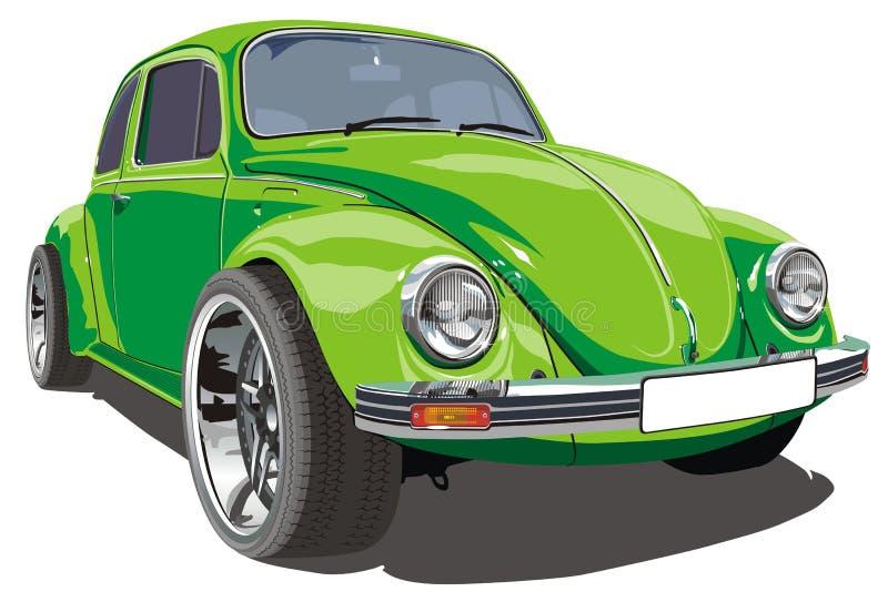Retro automobile sintonizzata vettore illustrazione vettoriale