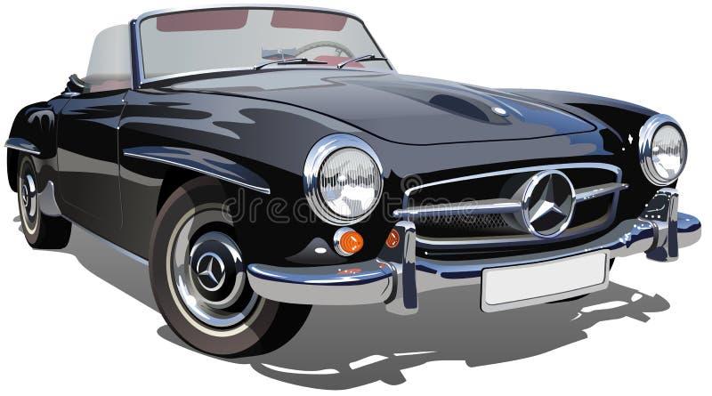 Retro automobile sportiva di vettore illustrazione di stock