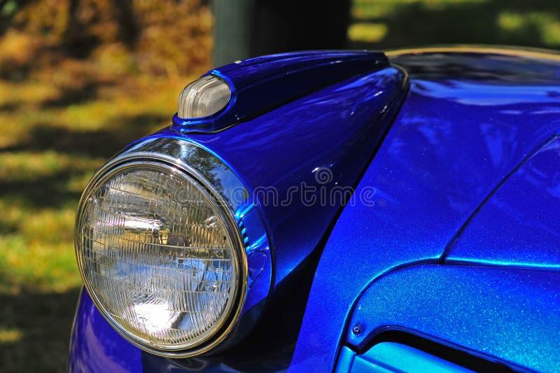Retro automotive headlight stock photo