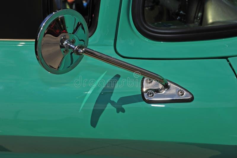 Retro automotive mirror stock image