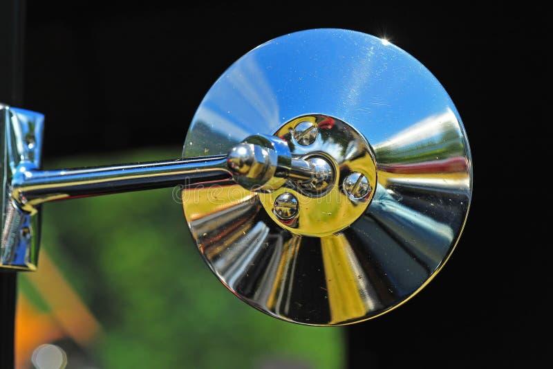 Retro automotive mirror stock photos