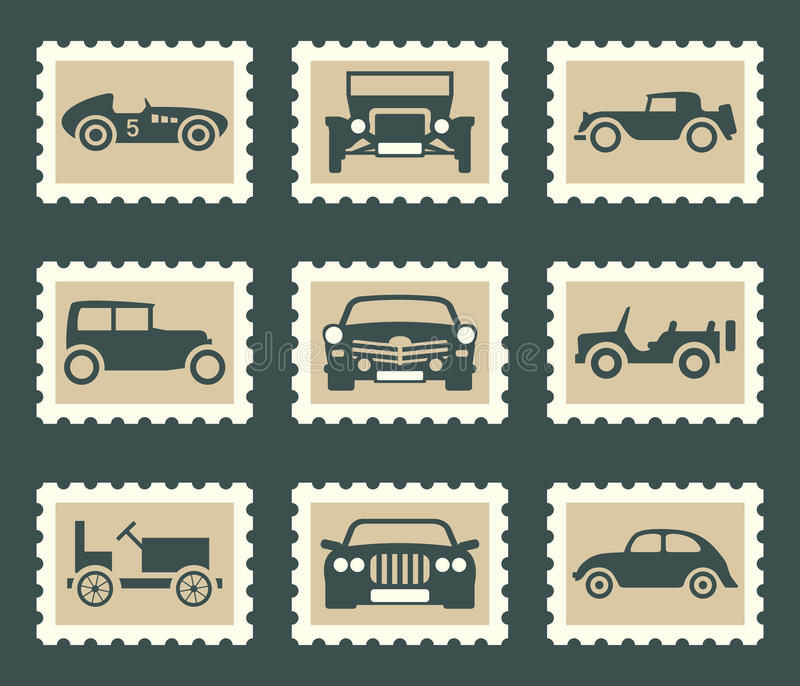 Retro Autosatz lizenzfreie abbildung