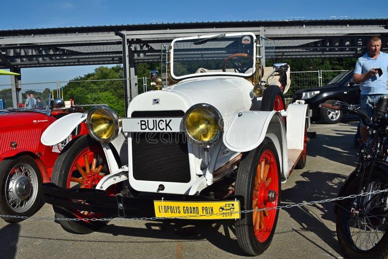 Retro- Autos in Lemberg lizenzfreies stockbild