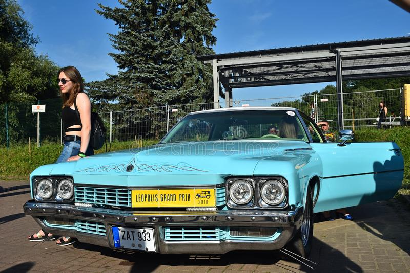 Retro- Autos in Lemberg lizenzfreie stockfotografie