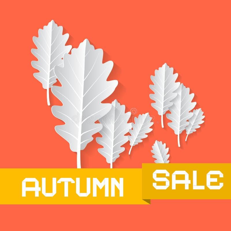 Retro Autumn Sale Background royalty-vrije illustratie