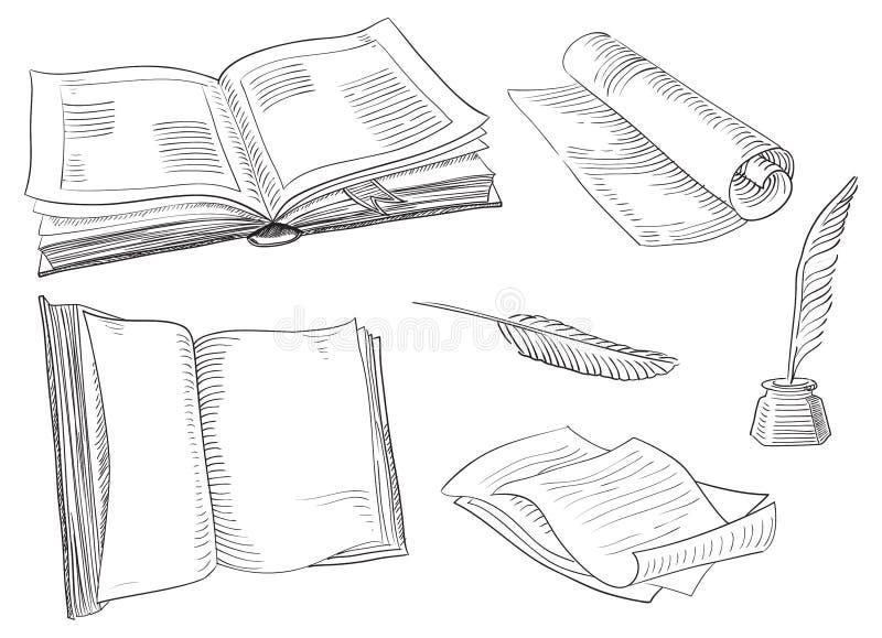 Retro- Bücher vektor abbildung