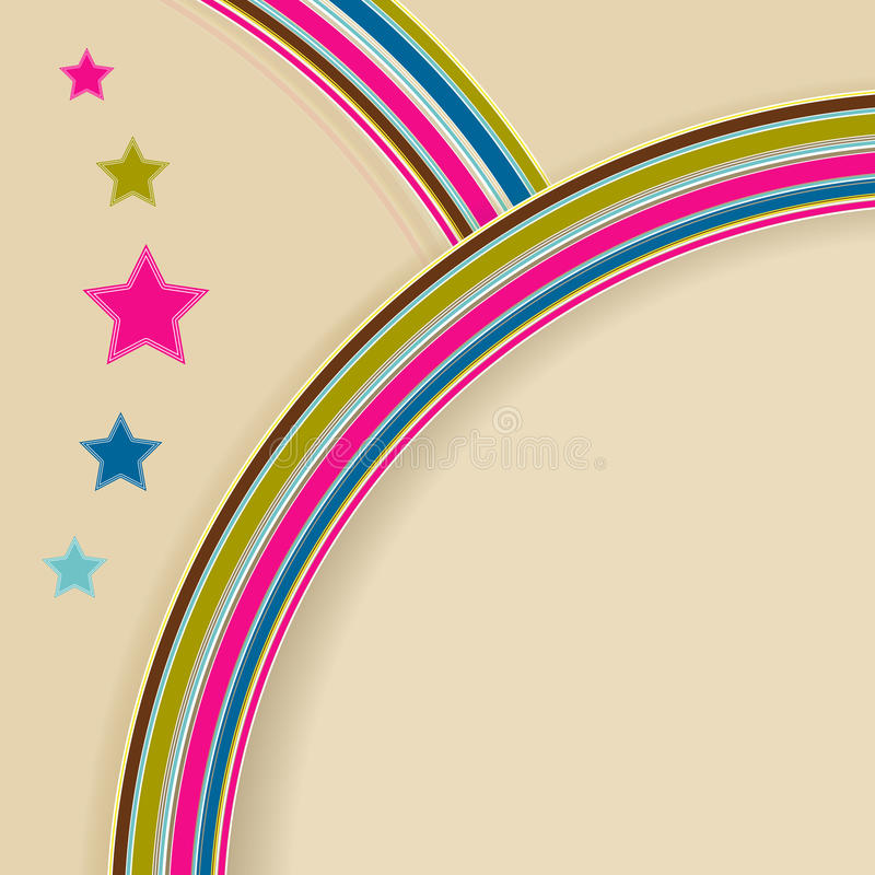 Download Retro-background stock vector. Image of curl, colorful - 14860541