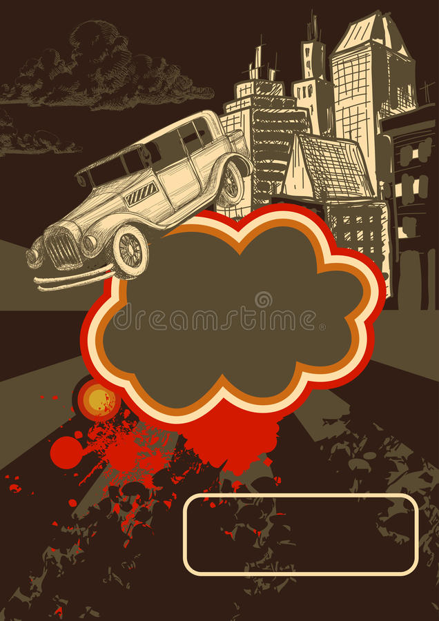 Download Retro background stock vector. Image of poster, grungy - 20549341