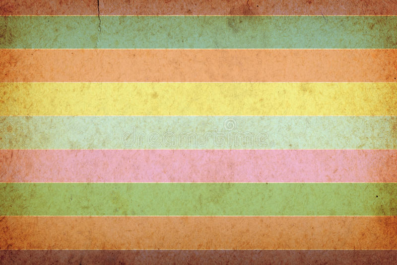Retro Background. Retro old paper texture with stripes for background royalty free illustration