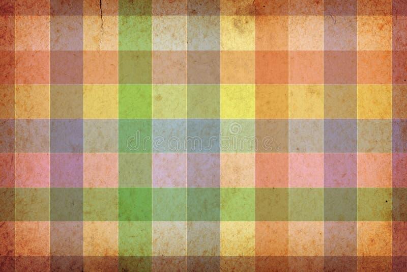 Retro Background. Retro paper background. Vintage style colorful grid royalty free illustration