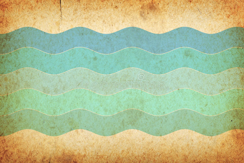 Retro Background. Vintage old paper texture for background with wave pattern vector illustration