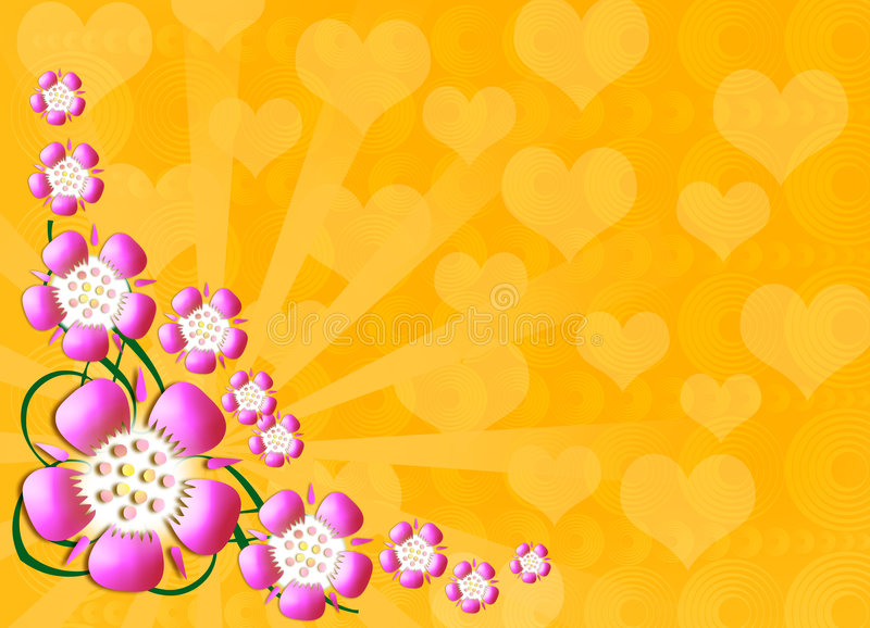 Retro background. Colourful flower retro style background stock illustration