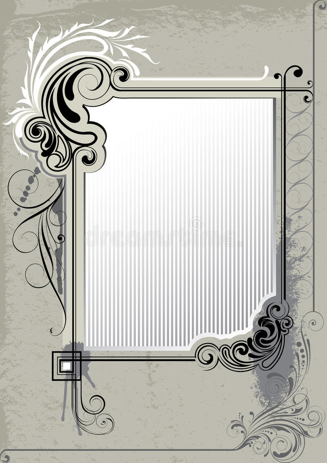 Retro background frame royalty free illustration