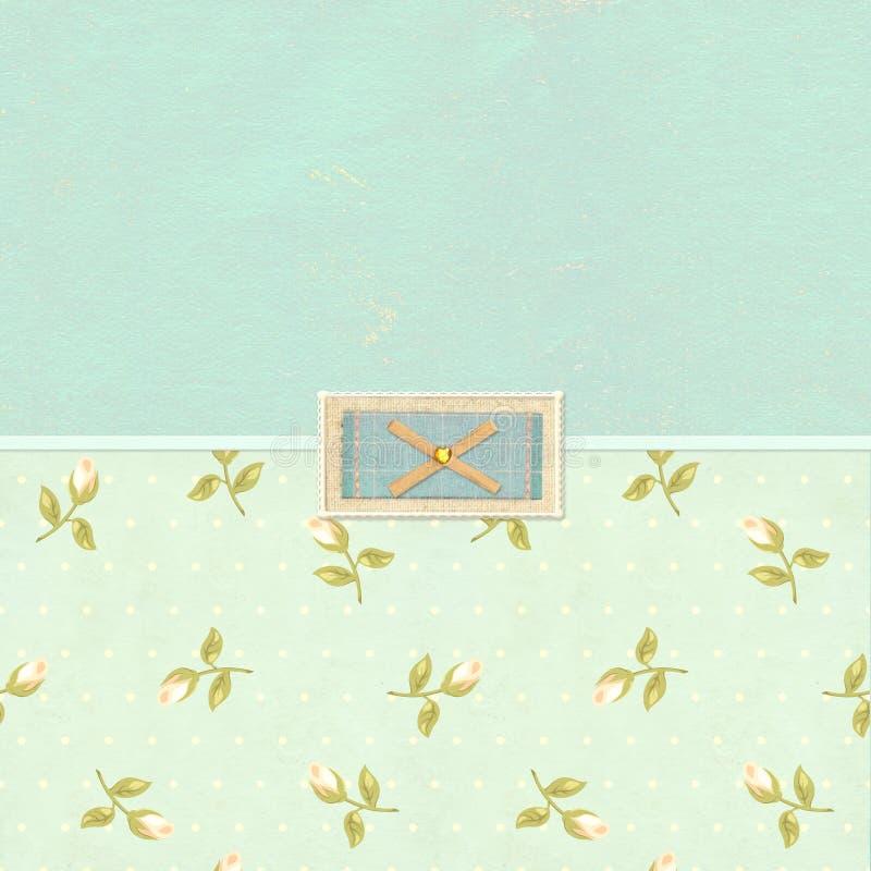 Retro background in shabby chic style royalty free illustration