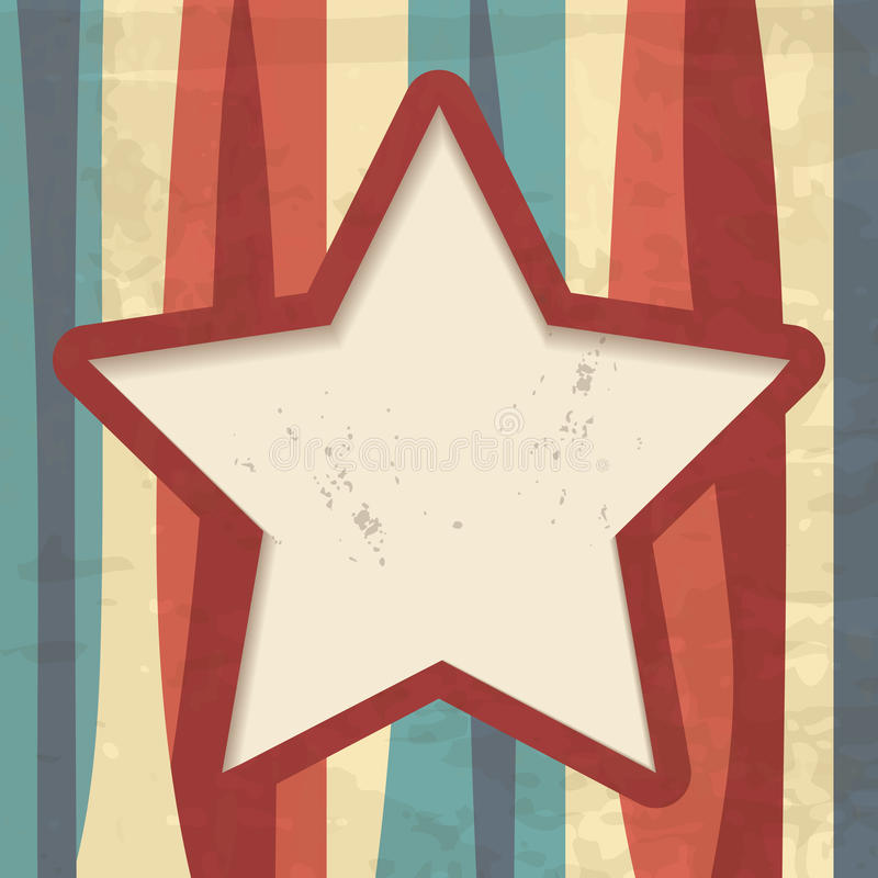 Download Retro Background With A Star Frame Stock Illustration - Illustration of distressed, creative: 28528119