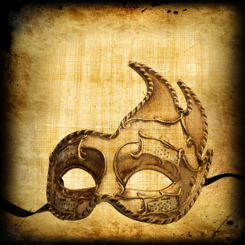 Retro background with venetian mask royalty free stock images