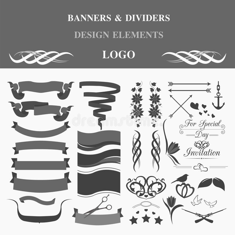 Retro badges design logo. Template stock illustration