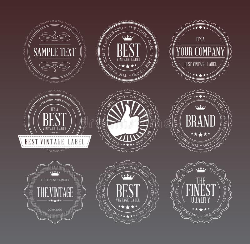 Retro badges and labels. Set of labels and badges retro style. vector stock illustration .eps 10 vector illustration