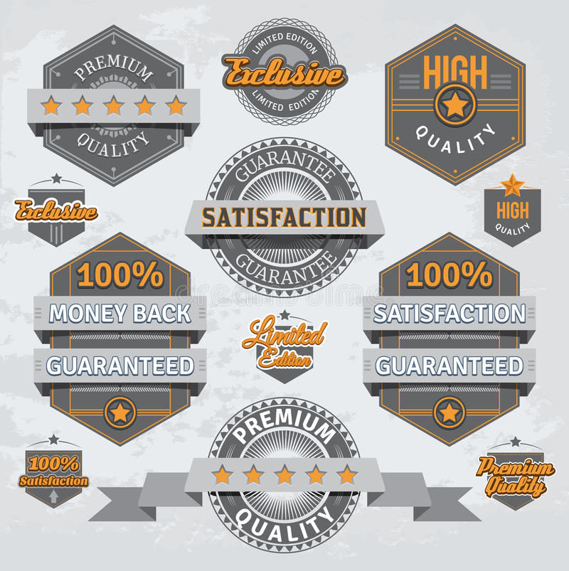 Retro badges and labels vector illustration